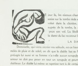 Letters (7,) in the book L'Enchanteur pourrissant by Guillaume Apollinaire (Paris: Henry Kahnweiler, 1909).