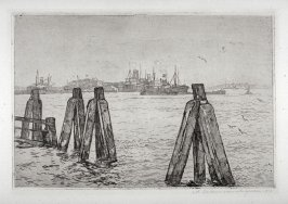 Mooring posts and Steamers (Landing stage)
