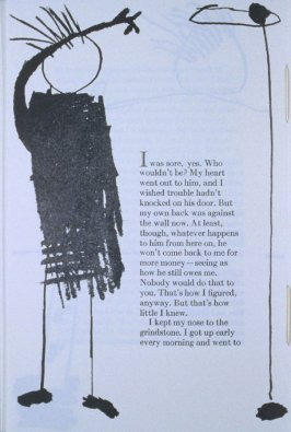 """I was sore, yes. . . ,"" page in the book Elephant (Fairfax: Jungle Garden Press, 1988)"