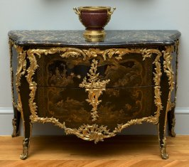 Commode with marble top