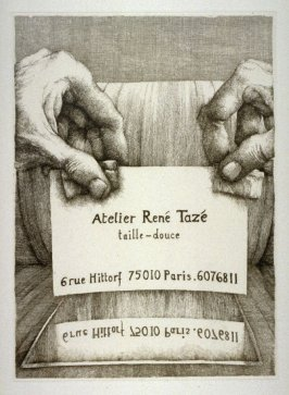 Address Card of the Atelier René Tazé