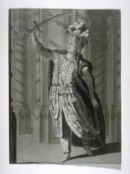 """Costume design: The Actor Le Kain Playing """"Mahomet"""" (Racine)"""