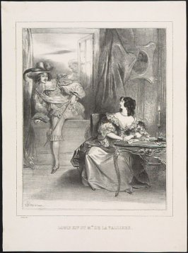 Louis XIV and Mlle. de la Valleire, from Famous Lovers