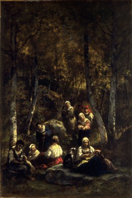 Gypsies in a Forest