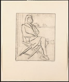 #12 (Phyllis on outside deck), from the portfolio 41 Etchings Drypoints