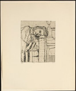 #25 (Phyllis leaning head on arm of couch), from the portfolio 41 Etchings Drypoints