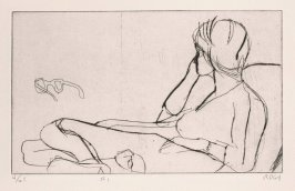 #1 (the artist's wife, Phyllis), from the portfolio 41 Etchings Drypoints