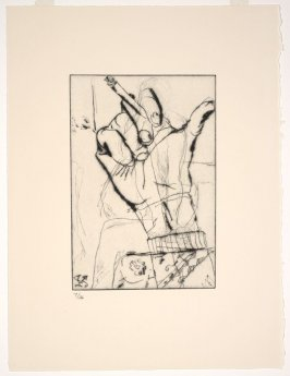 Untitled (Hand with cigarette superimposed over nude figure)