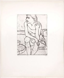 #3 (seated woman), from the portfolio 41 Etchings Drypoints