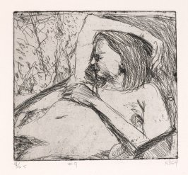 #9 (reclining model), from the portfolio 41 Etchings Drypoints