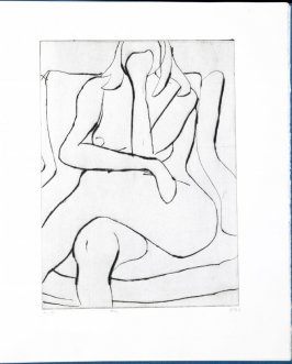 #16 (drawn on the plate during a model session with artist friends) in the book, 41 Etchings Drypoints by Richard Diebenkorn ([Berkeley]: Crown Point Press, 1965)