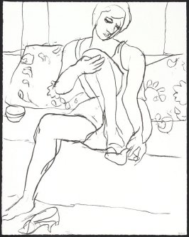 Untitled (Seated Woman Putting on Shoes)
