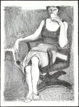 Untitled (Seated Woman Drinking from a Cup)