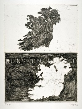 Double Map of Ireland, illustration for the book Poems of W. B. Yeats (San Francisco: Arion Press, 1990)