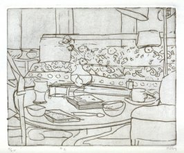#2 (the artist's living room in Berkeley), from the portfolio 41 Etchings Drypoints