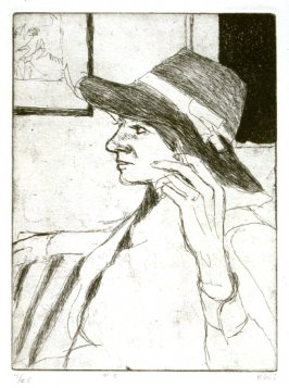 #5 (Phyllis wearing a hat), from the portfolio 41 Etchings Drypoints