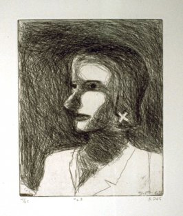 #23 (portrait of Phyllis), from the portfolio 41 Etchings Drypoints