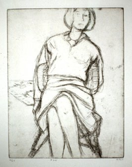 #24 (Phyllis seated in rattan chair), from the portfolio 41 Etchings Drypoints