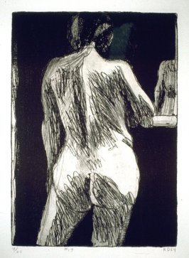 #17 (back view, female nude), from the portfolio 41 Etchings Drypoints