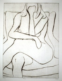 #16 (seated model), from the portfolio 41 Etchings Drypoints