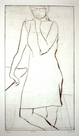 #28 (Kathan Brown), from the portfolio 41 Etchings Drypoints