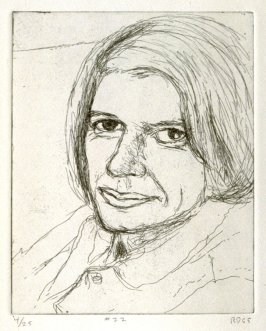 #22 (portrait of Phyllis), from the portfolio 41 Etchings Drypoints