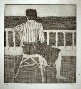 #37 (woman in chair, seen from the behind), from the portfolio 41 Etchings Drypoints