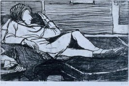 #4 (Phyllis) in the book, 41 Etchings Drypoints by Richard Diebenkorn ([Berkeley]: Crown Point Press, 1965)