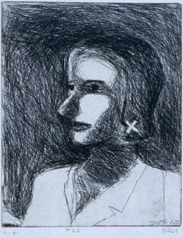 #23 (portrait of Phyllis) in the book, 41 Etchings Drypoints by Richard Diebenkorn ([Berkeley]: Crown Point Press, 1965)