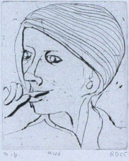 #40 (Phyllis) in the book, 41 Etchings Drypoints by Richard Diebenkorn ([Berkeley]: Crown Point Press, 1965
