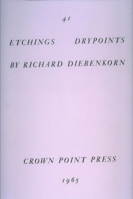 Title page for unbound portfolio 41 Etchings Drypoints