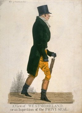 "Caricature (full figure) of John, Eleventh Earl of Westmoreland - ""A View of Westmoreland"""
