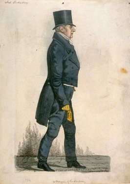 "Caricature (full figure) of Third Marquis of Londonderry - ""A View of Londonderry"""