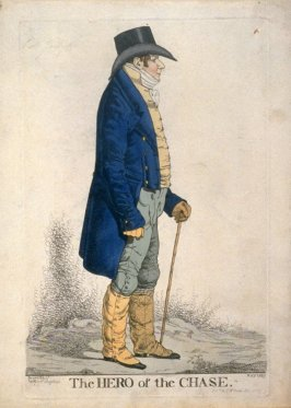 "Caricature (full figure) of Colonel Jolliffe - ""The Hero of the Chase"""
