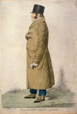 Caricature (full figure) of the Honorable George Lamb