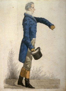 """Caricature (full figure) of Sir Francis Burdett - """"Westminster's Story"""""""