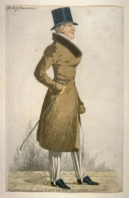 "Caricature (full figure) of William, Sixth Duke of Devonshire - ""A View of Devonshire"""