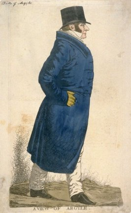 "Caricature (full figure) of Duke of Argyll - "" A View of Argyle"""