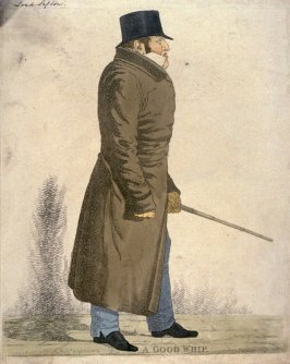 "Caricature (full figure) of Earl of Sefton - ""A Good Whip"""