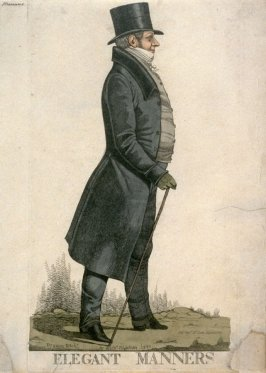 """Caricature (full figure) of Lord Manners - """"Elegant Manners"""""""
