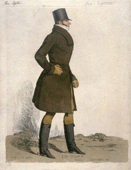 """Caricature (full figure) of Honorable Arthur Upton - """"Up-town"""""""