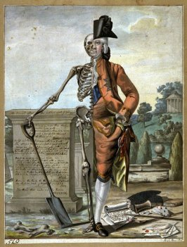 An Essay on Man: Life and Death Contrasted, study for the mezzotint published by Bowles and Carver in 1796