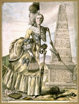 An Essay on Woman: Life and Death Contrasted, study for the mezzotint published by Bowles and Carver in 1796