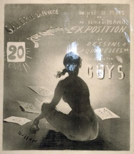 Poster for Exhibition of Drawings and Watercolors by the French Artist, Constantin Guys