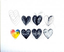 Hearts and a Watercolor