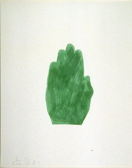 Untitled (green hand) from the book The Poet Assassinated by Guillaume Apollinaire, translated by Ron Padgett (New York: Tanglewood Press, Inc., 1968)