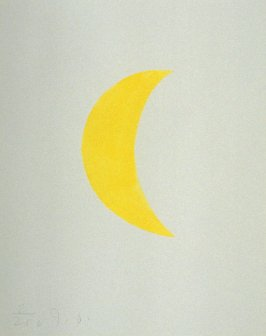 Untitled (crescent moon) from the book The Poet Assassinated by Guillaume Apollinaire, translated by Ron Padgett (New York: Tanglewood Press, Inc., 1968)