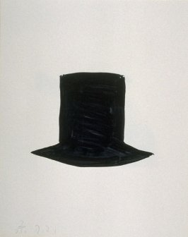 Untitled (black top hat) from the book The Poet Assassinated by Guillaume Apollinaire, translated by Ron Padgett (New York: Tanglewood Press, Inc., 1968)