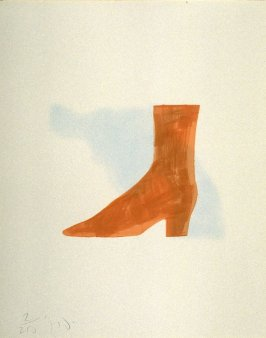 Untitled (brown boot) from the book The Poet Assassinated by Guillaume Apollinaire, translated by Ron Padgett (New York: Tanglewood Press, Inc., 1968)