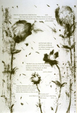 Eleventh plate in the portfolio Biotherm (for Bill Berkson) by Frank O'Hara (San Francisco: Arion Press, 1990)